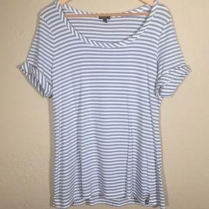 Talbots shirt short sleeve stripe sz. XL cotton